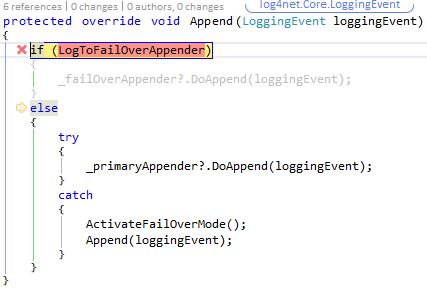 First logging message - goes to the primary appender