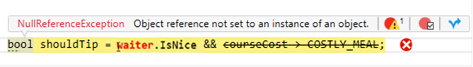 Ozcode Visual Studio Extension exception highlighting